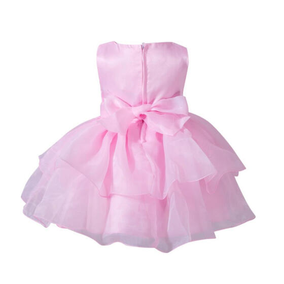 Infant Girl Summer Princess Dress Kid Baby Party Wedding Sleeveless Cheongsam US