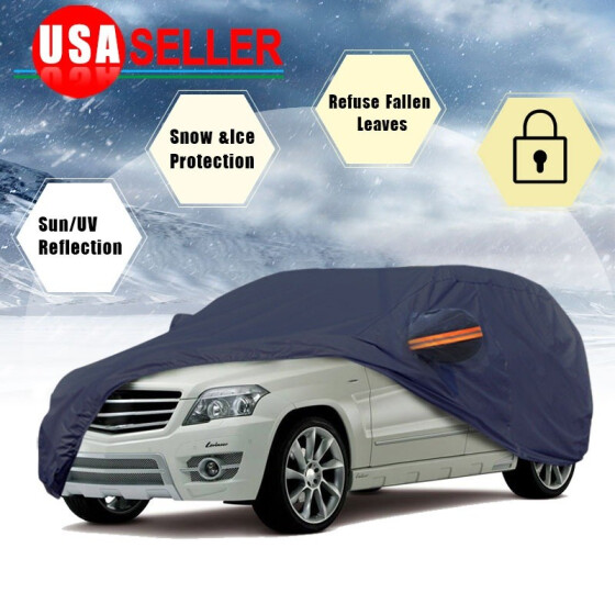 Waterproof Sun UV Snow Rain Dust Resistant Protection Full Car Cover M