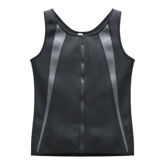 Men/'s Neoprene Sauna Vest Sweat Shirt Redu Fat Body Shaper for GYM Training Top