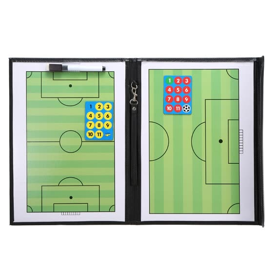 Foldable Football Soccer Magnetic Tactic Board Coaching Strategy Board with Marker Pieces and 2-in-1 Pen