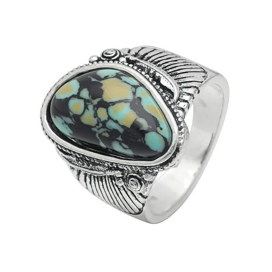 Shop 925 Sterling Silver Fashion Natural Gemstone Turquoise Ring