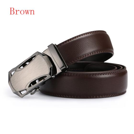 Men/'s Genuine Leather Belts Automatic Buckle Fashion belt Black Brown 110-130cm