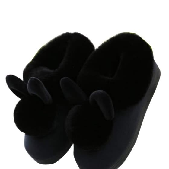 CHUNNUANYANG Rabbit ears home shoes autumn and winter slippers 12319