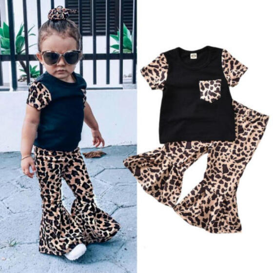 UK Unicorn Kids Baby Girl Outfit Clothes T-shirt Top Dress+Floral Pants Leggings