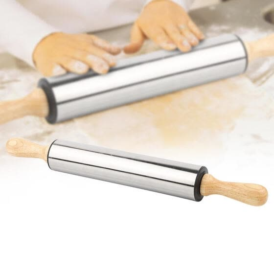 Stainless Steel Non-stick Rolling Pin Dough Roller Kitchen Baking Pastry   Ц