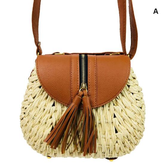 Straw Square Hand Woven Ladies Clutch Bag Purse Bags Summer Beach Weave