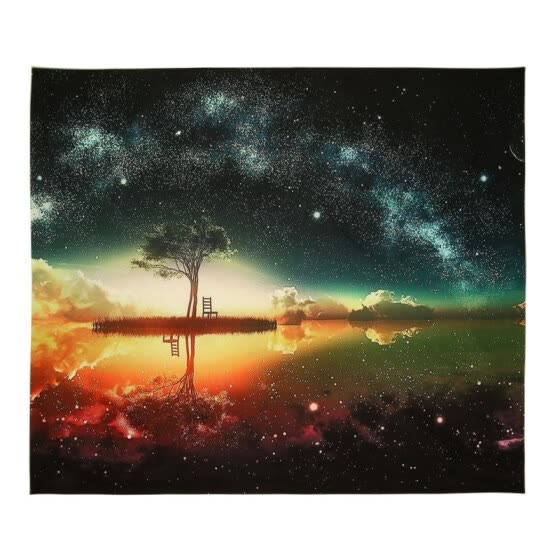 Warm Starry Sky Scenery Digital Printing Wall Polyester Tapestry Living Room Decoration Home Decor