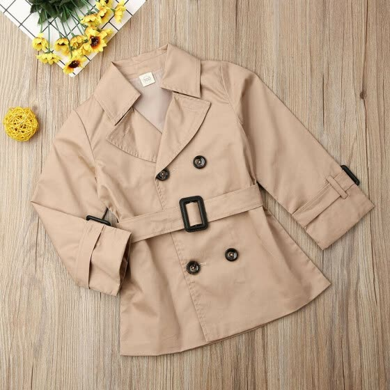 Toddler Kids Baby Girls Trench Coat Autumn Jacket Windbreaker Outerwear Coats