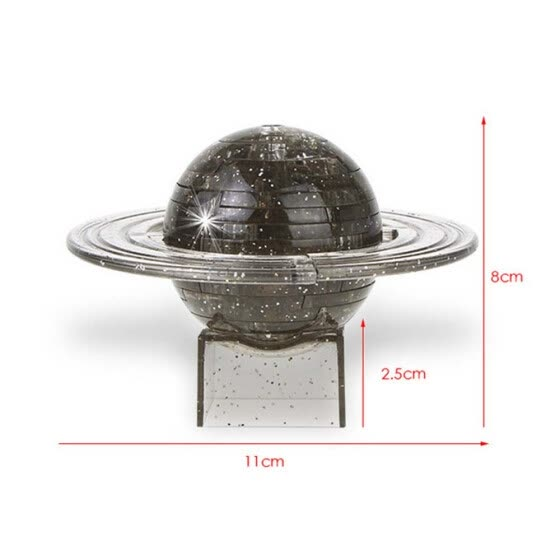 Tailored 3D Crystal Puzzle Cute Earth Saturn Model DIY Gadget Blocks Building Toy Gift