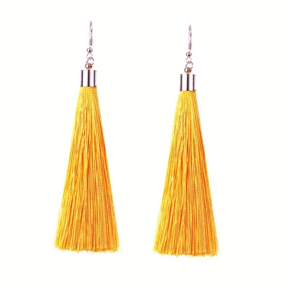 EK2048 Ethnic Boho Long Tassel Dangle Earrings Women Fashion Brand Jewelry European Exaggerated Drop Earrings Vintage Pendientes