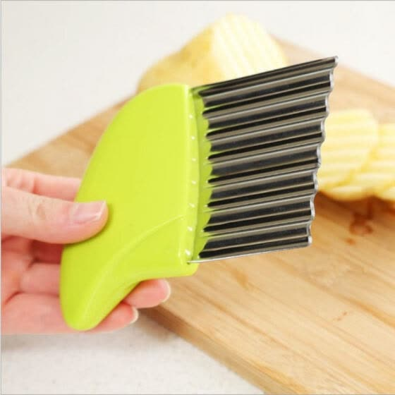 1pc Creative Shredder Potato knife cutting machine Stainless steel multi-purpose wave knife Kitchen Knives Fruit Tool