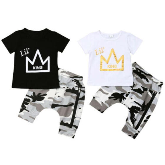 Newborn Toddler Kids Baby Boy T-shirt Tops+Long Pants 2PCS Outfits Clothes Set