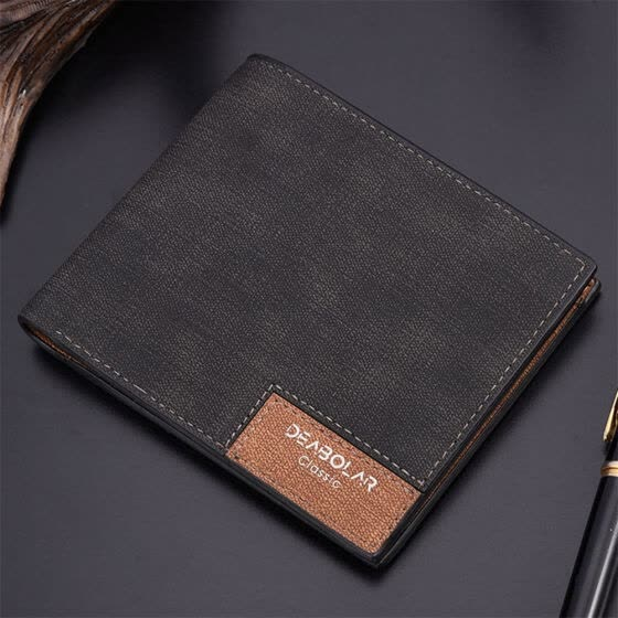 2019 New Style Fashion Hot Top Quality Men's Bifold Leather Wallet Money Holder Solid Billfold Purse Clutch