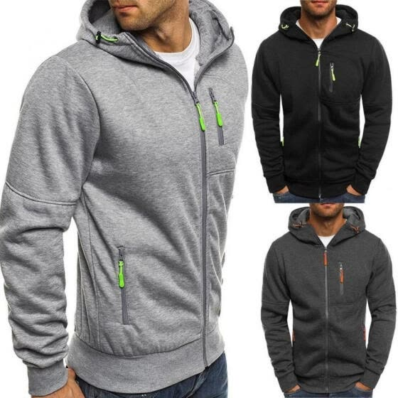 3 Colors Outdoor Sport Slim Hoodie Warm Hooded Sweatshirt Coat Jacket Outwear Sweater