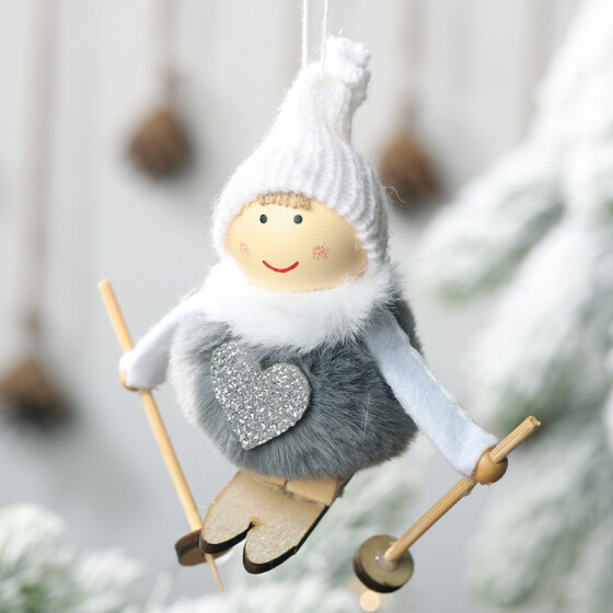 Christmas Tree Plush Doll Angel Home Ornaments Decoration Toy Pendants Hanging