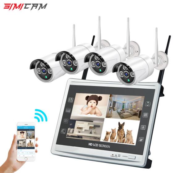 4CH 1080P FULL HD CCTV camera system Wireless NVR Kits 11 '...