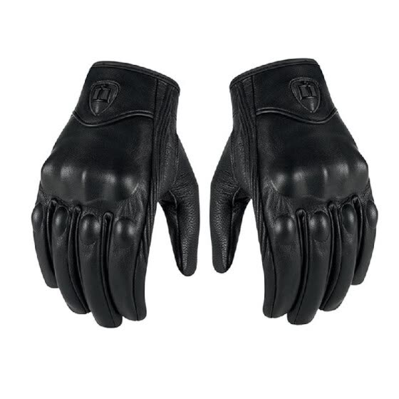 Genuine Leather Gloves Motorcycle GP Glove Touch Screen for Men Motocross Cycling Racing XXL