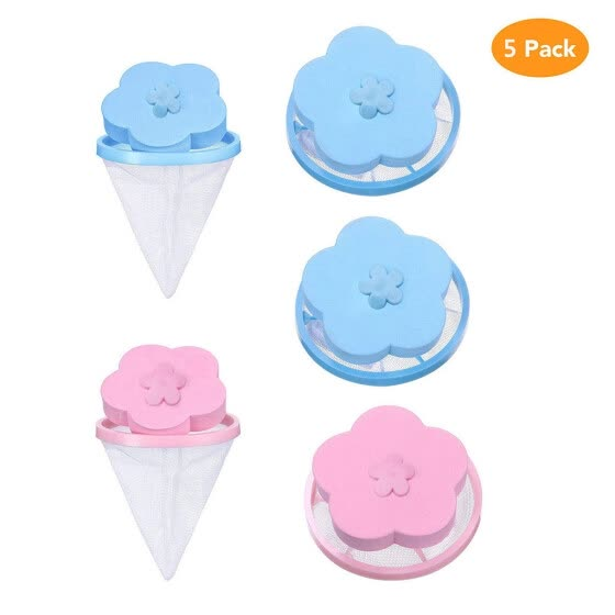 Gobestart Washing Machine Lint Filter Bag Laundry Mesh Hair Catcher Floating Ball Pouch