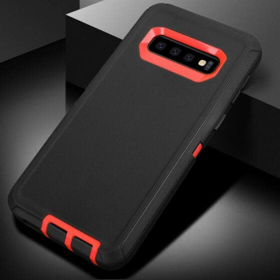 Hybrid Armor Shockproof Rugged Phone Case PC and TPU Combo Protective Cover Case for Samsung Galaxy S10/S10 Plus/S10E