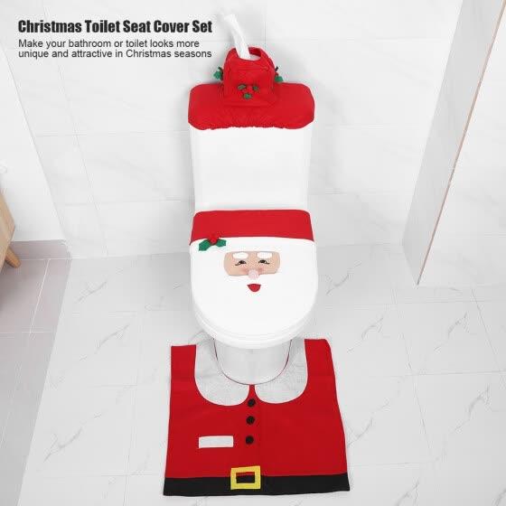 Astounding Shop 1 Set Christmas Bathroom Toilet Seat Cover Floor Mat Forskolin Free Trial Chair Design Images Forskolin Free Trialorg
