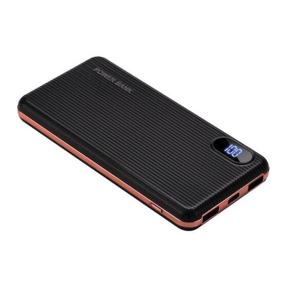 10000MAh Mini Ultra-thin Mobile Power External Battery Portable Charger With Dual USB Output, Suitable For Mobile Phones