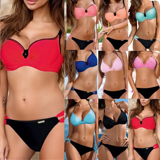 Women Push Up Bikini Set Bra Padded Swimwear Bandage Lady Swimsuit Bathing Suit