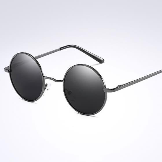 c5140d1415 Gafas redondas de moda Gafas de sol polarizadas Montura oval gafas de sol  vintage Gafas de