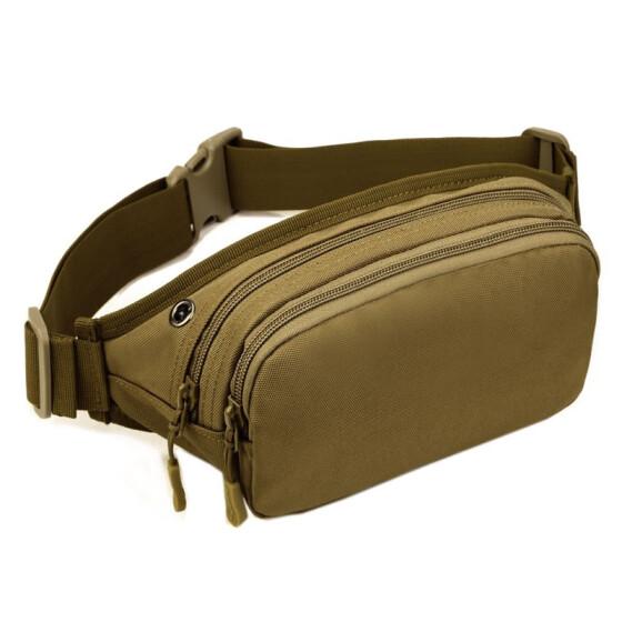 551f5a7503e Men Tactical Waterproof Waist Fanny Packs Bum Belt Bag Nylon Military  Travel Hiking Climbing Outdoors Sports
