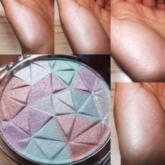 3 Colors High Gloss Powder High Light Shadow Disk Face Powder Natural Makeup Brighten Cosmetic