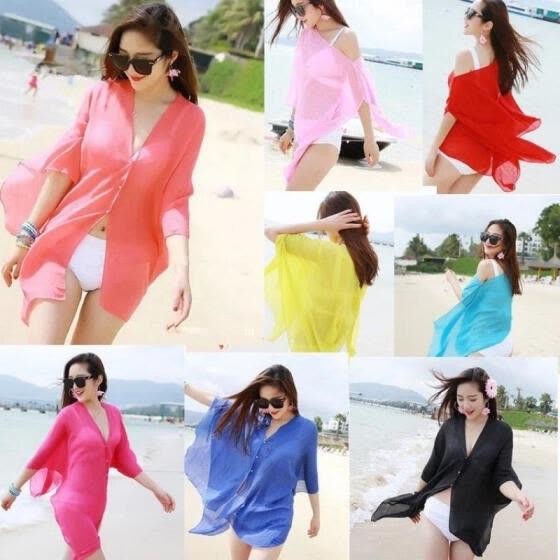 d6a287d02403b Women Sexy Chiffon Bikini Cover Up Beach Swimwear Dress Scarf Pareo Sarong  Wrap