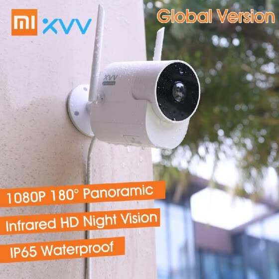 Global Version Xiaomi Youpin Xiaovv Outdoor Panoramic Camera 1080P HD Home Security Surveillance Camera Waterproof Dustproof Wirel