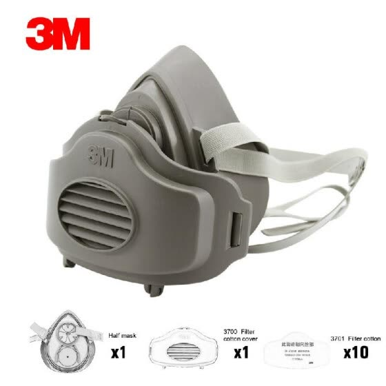 3m breathing mask for dust with filters