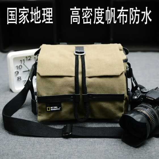 Canon 6D70D SLR camera bag Nikon waterproof photography bag canvas men and women shoulder