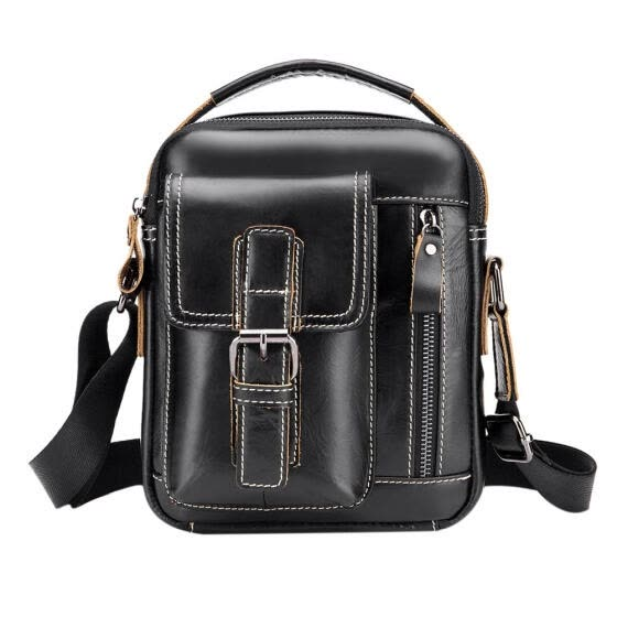 Men Casual Handbags Genuine Leather Shoulder Bags Business Crossbody Packs