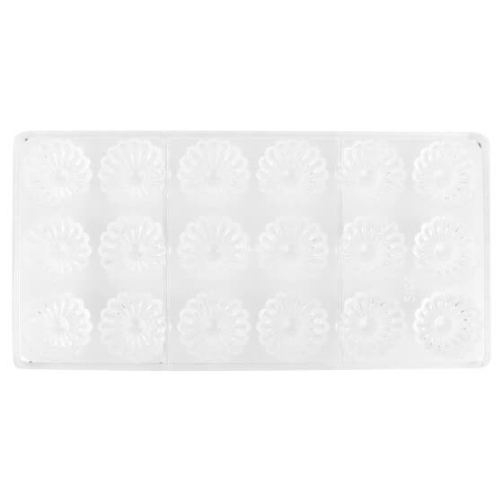 Greensen Non-Stick Food-Grade Chocolate Mold DIY Candy Fondant Mold 18 Chrysanthemum Shaped Cavities, Candy Mold, Fondant Mold
