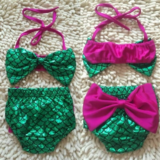Newborn Toddler Baby Girls Bikini Set Swimwear Swimsuit Swimming Costume Bowknot