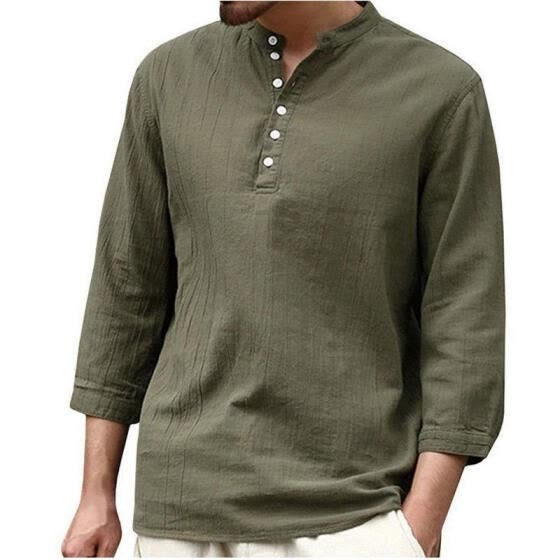 Men´s New Fashion Slim Long Sleeve Shirt Solid T-shirt Tee Shirt Casual Crew Neck Tops