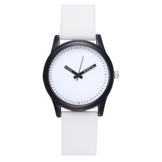 Fashion trendy solid color high-end watches micro-selling women's models simple PU silicone quartz watch