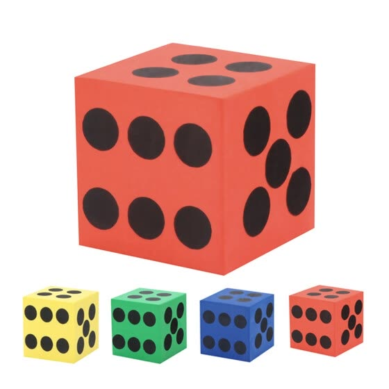 Gobestart Eva Foam Dice Six Sided Spot Dice Kid Game Soft Learn Play Blocks Toy