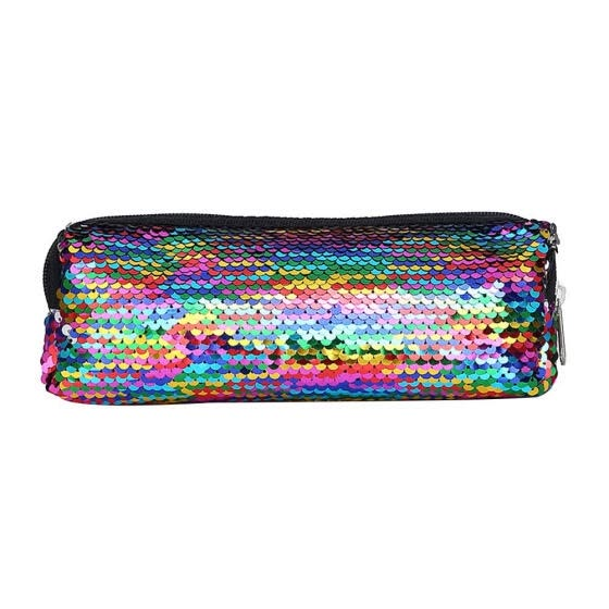 Fish Scale Sequins Cosmetic Bags Women Makeup Pouch Students Pencil Case