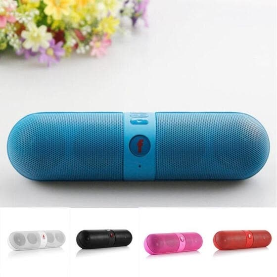 Capsule Bluetooth Portable Wireless FM Stereo Speaker For Smart Phone Laptop