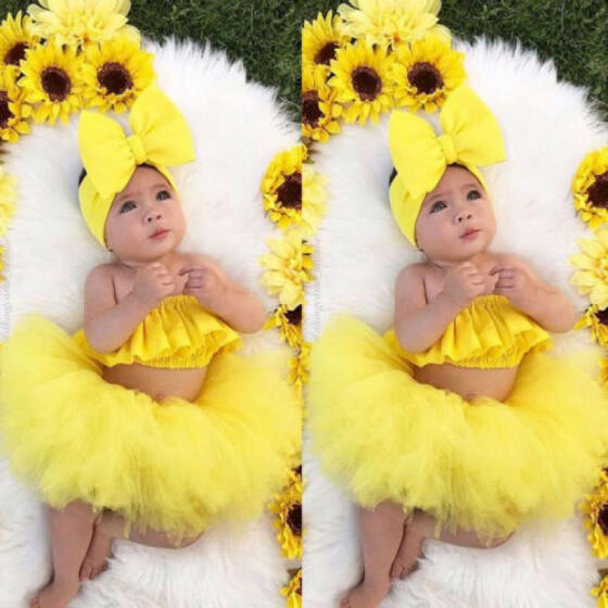 UK Newborn Baby Girls Floral Romper Tops T-shirt Tulle Skirts Tutu Dress Outfits