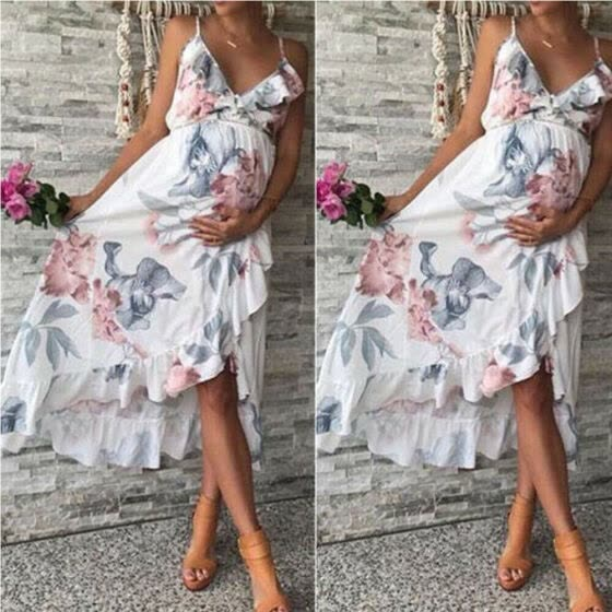 Shop Pregnant Womens Maternity Gown Lace Maxi Long Dress Casual Summer Chiffon Floral Daily Party Beach Dresses Photography Photo Shoot Online From Best Casual On Jd Com Global Site Joybuy Com
