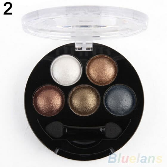 5 Colors Professional Cosmetic Palette Makeup Tool Smoky Shimmers Eye Shadow