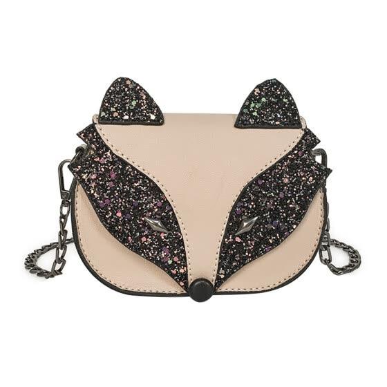 Kids Sequins Fox Crossbody Bag