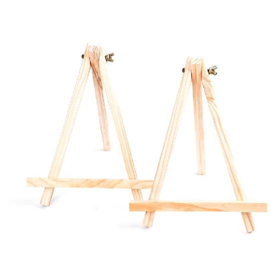 Shop 2 Pcs Mini Artist Wooden Easel Wood Wedding Table Card