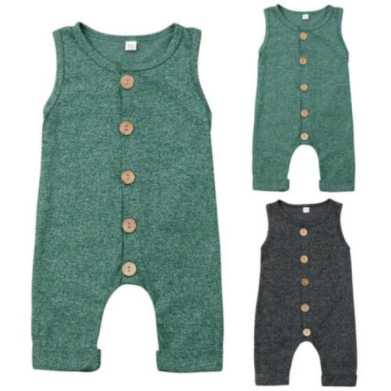 Newborn Baby Boy Girl Cotton One-Piece Romper Jumpsuit Outfit Sunsuit Overalls