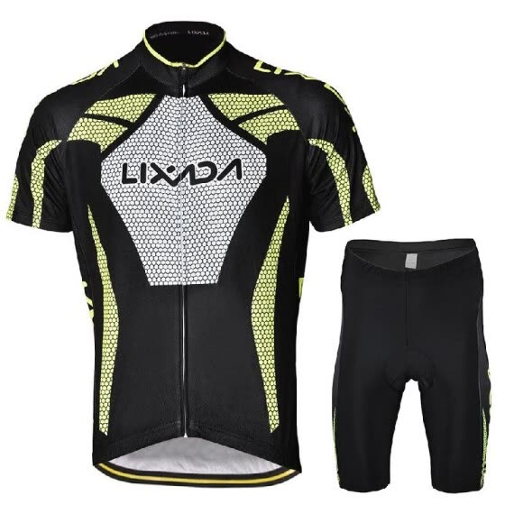 Men's Short Sleeve Cycling Jersey Padded  Short Sportswear Suit Set Breathable Cycling Cloth Set