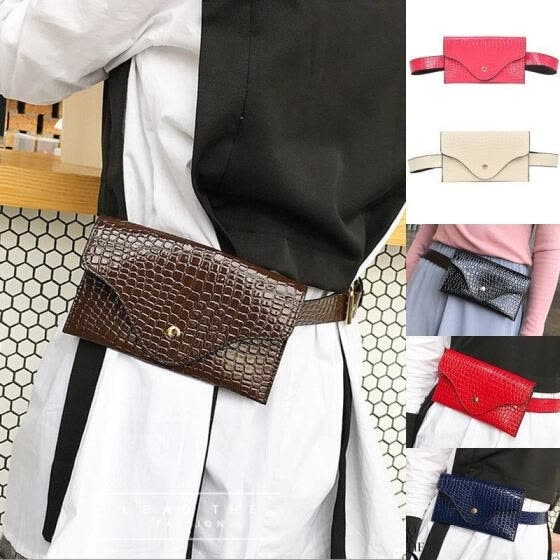 Fashion Womens PU Leather Mini Belt Bag Waist Fanny Pack Key Phone Purse Wallet 6 Colors