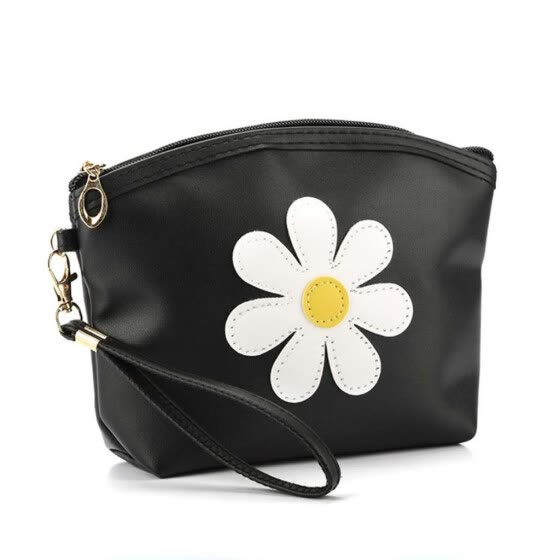 Tailored Fashion Women Flower Leather Zipper Handbags Cosmetic Bag Makeup Pouch Purses